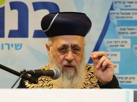 הרב יצחק יוסף. צילום: יעקב כהן
